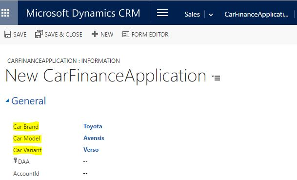 Parent child lookup fields in Dynamic CRM – Yawer Iqbal