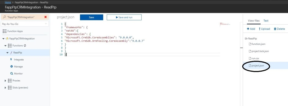 Ftp to CRM using Azure Function – Yawer Iqbal