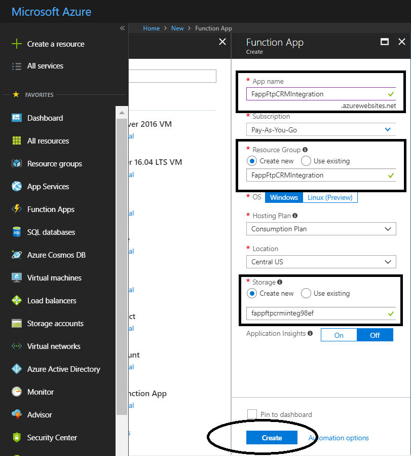 Ftp to CRM using Azure Function - Microsoft Dynamics CRM